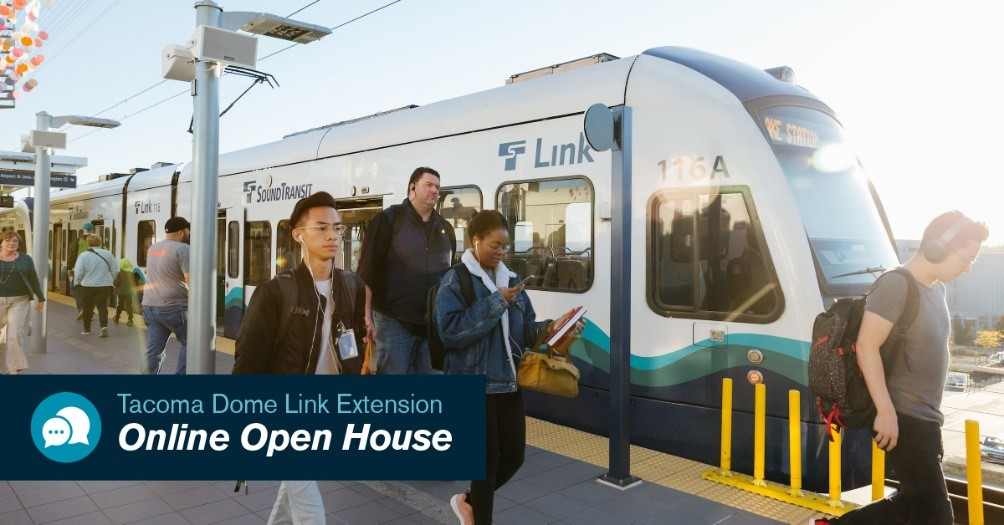 Your voice matters: South Sound light rail extension open houses and online feedback forum