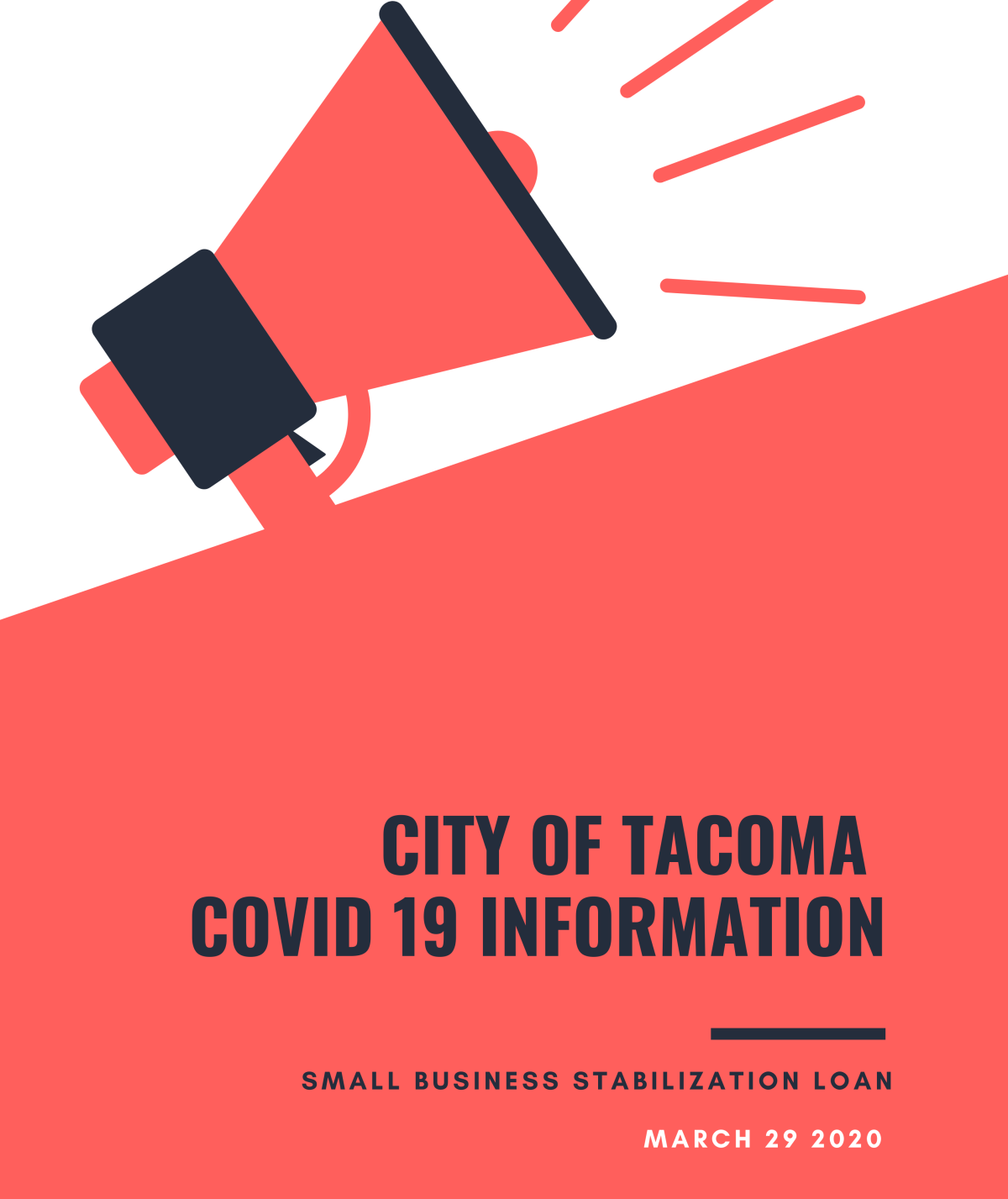 29Mar2020 New From City of Tacoma: Small Business Loan Information in 6 Languages