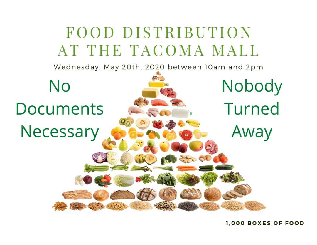 May 20 Food Distribution at Tacoma Mall