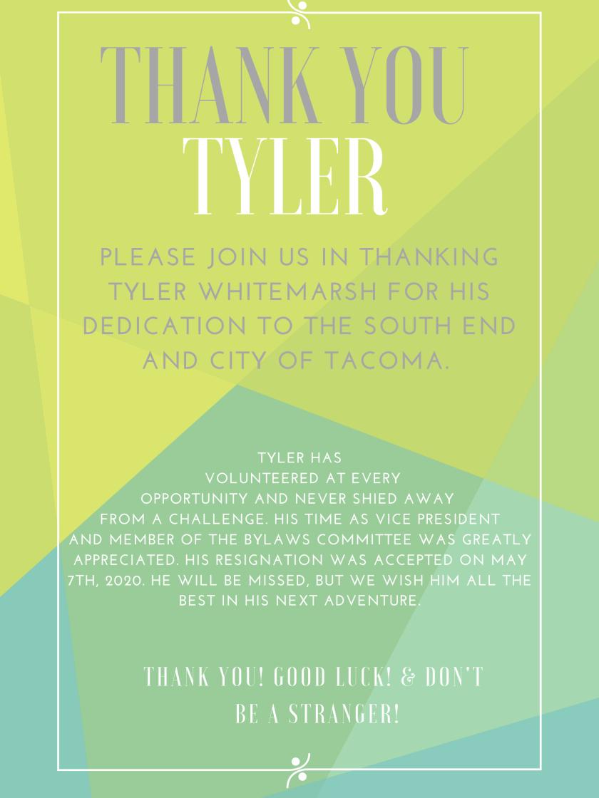 TYLER'S RESIGNATION POSTER