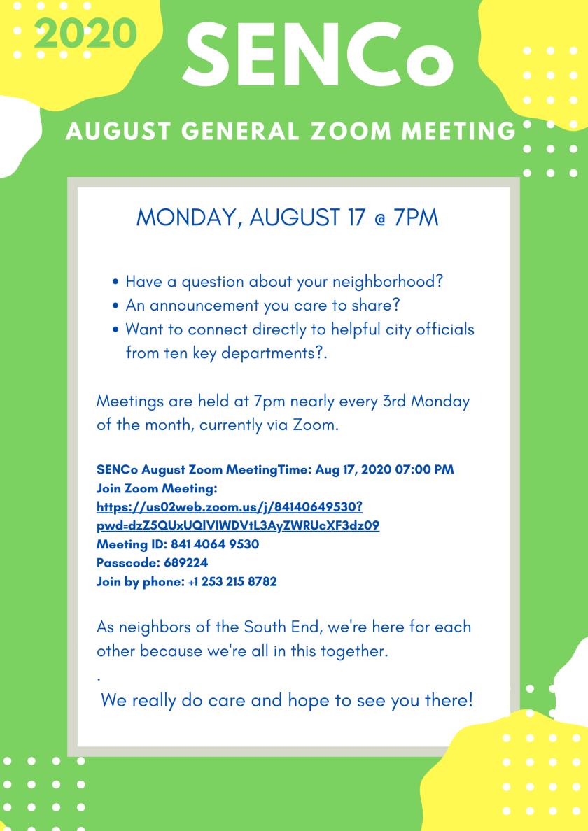 August 2020 Website Invite