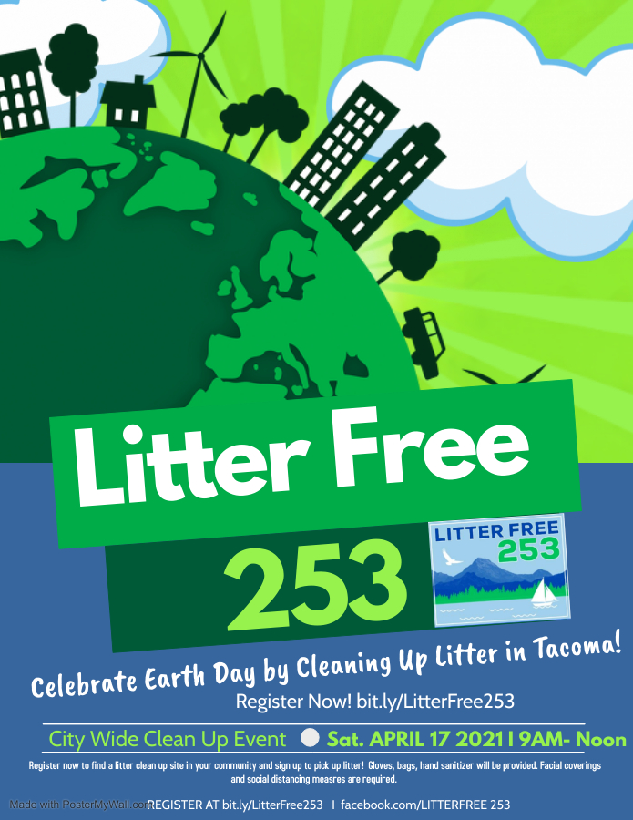 South End Sign Up! Litter Free 253! April 179-Noon